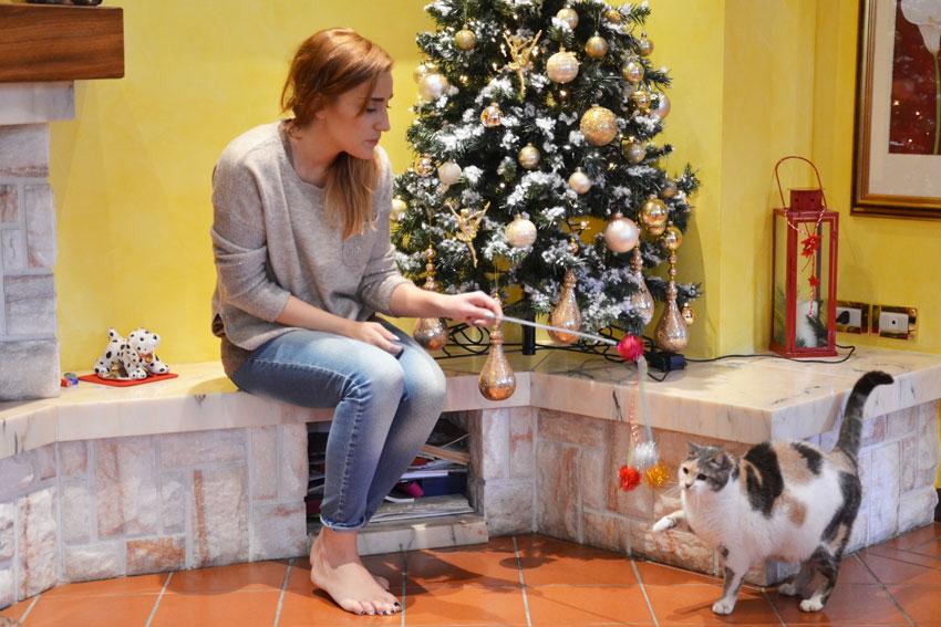 играть с кошкой
