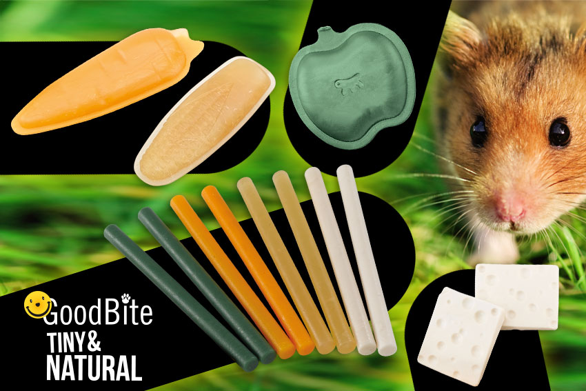 Products of the Good Bite Tiny & Natural by Ferplast for small animals