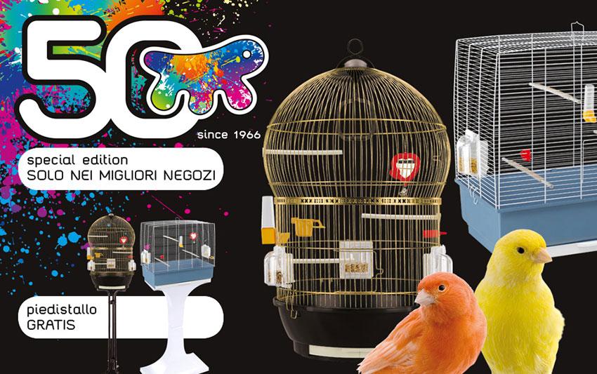 gabbie per uccelli Ferplast con stand in omaggio all'acquisto