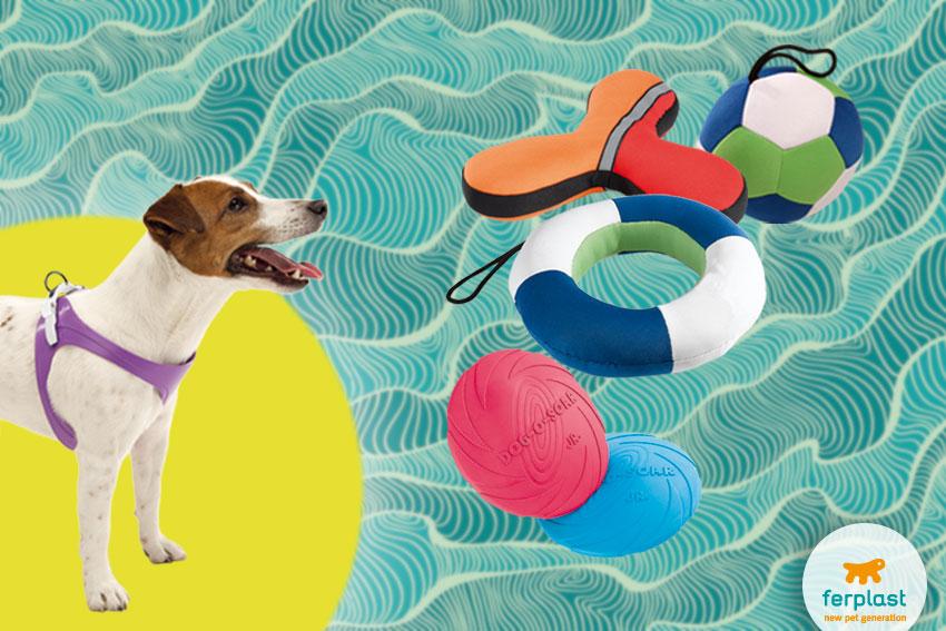 brinquedos da agua flutuantes para cães