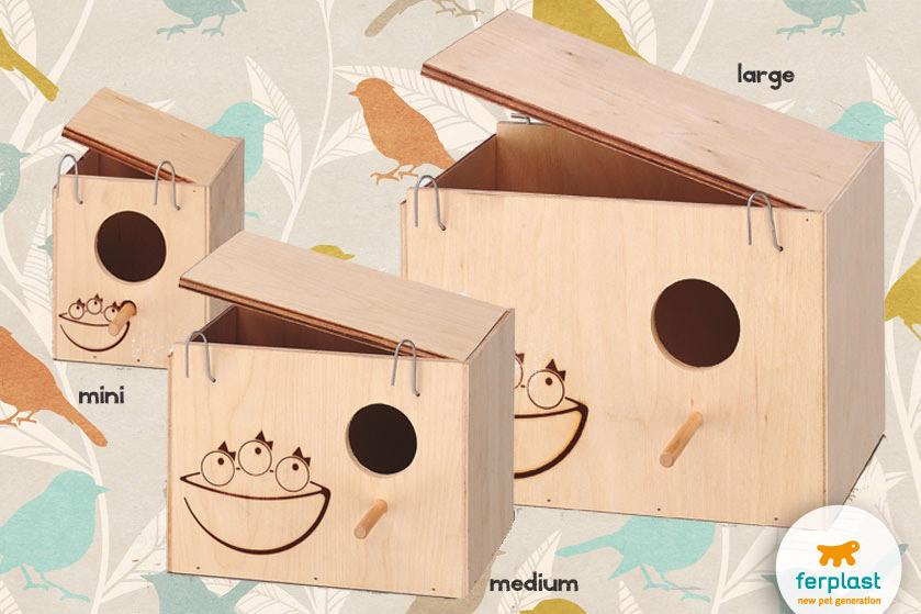 ninhos feitos de madeira da ferplast