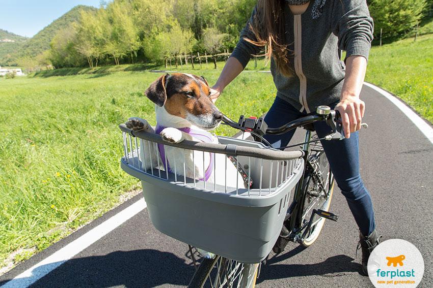 trasportino per cani da bici Atlas di Ferplast