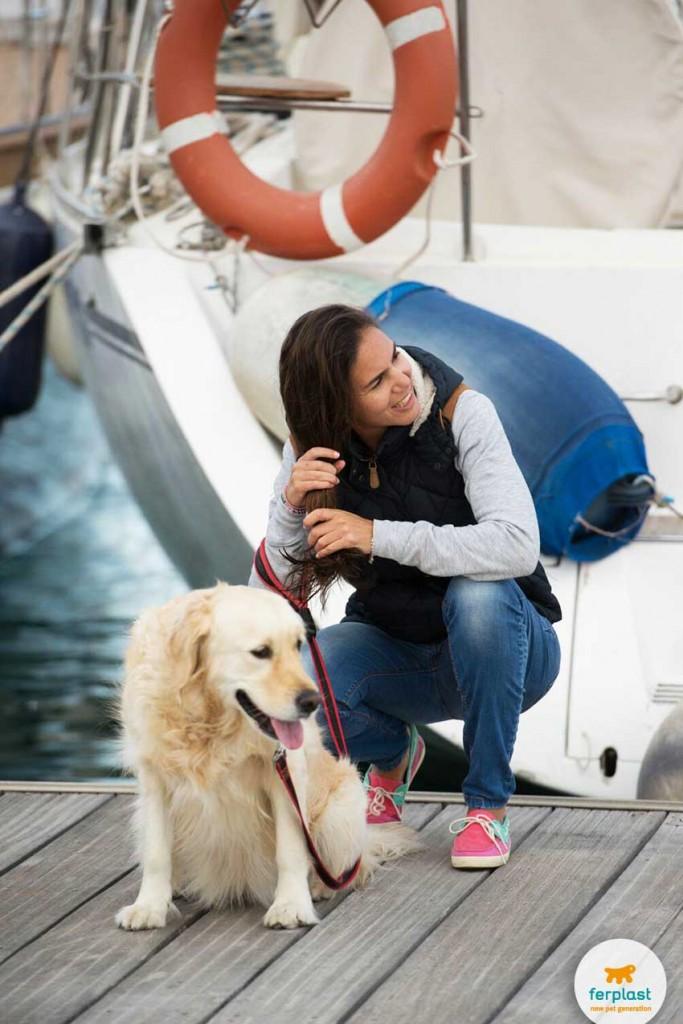 férias no navio com seu cão