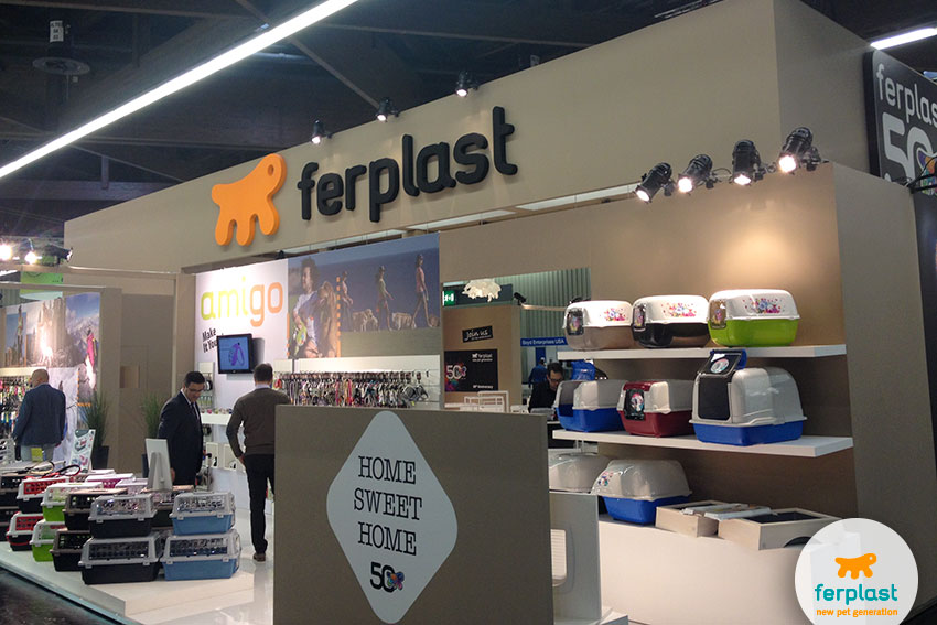 Ferplast cat and dog's accessories area at Interzoo 2016 Nuremberg