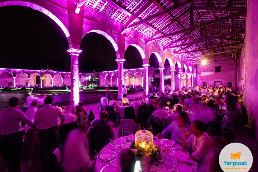 jantar de gala para a festa do 50º aniversário da Ferplast