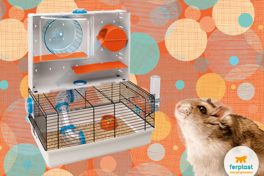spacious and large cage for hamsters Olimpia by Ferplast