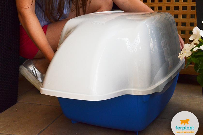 caixa de areia para gatos da ferplast