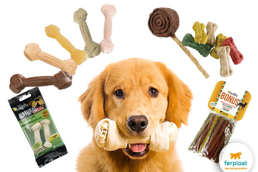petiscos para cães naturais e saudáveis da ferplast