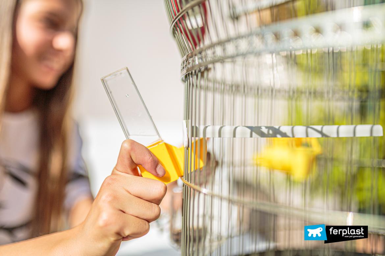 Dettaglio gabbia per canarini di Ferplast