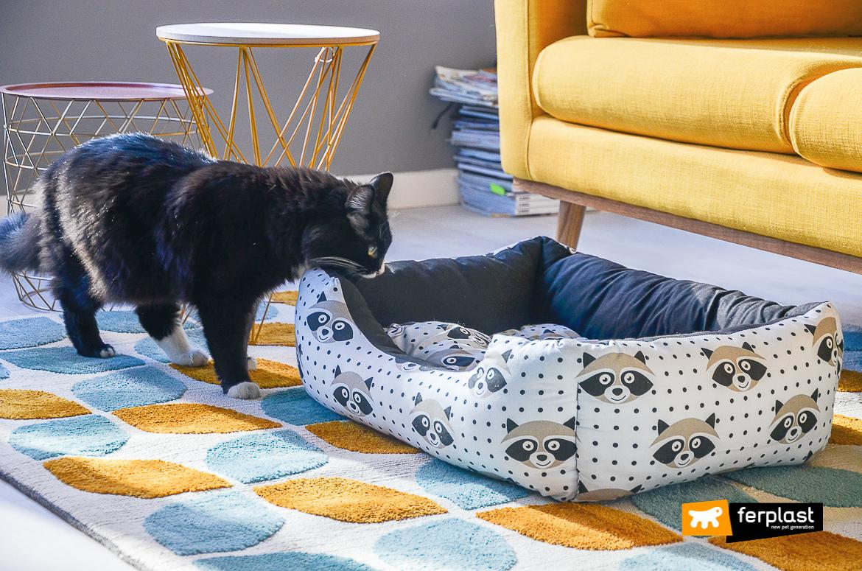 ferplast подушка кот цветной