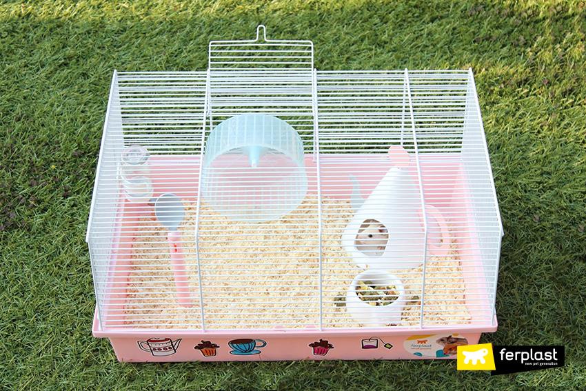 gaiola hamster ferplast milos tea time