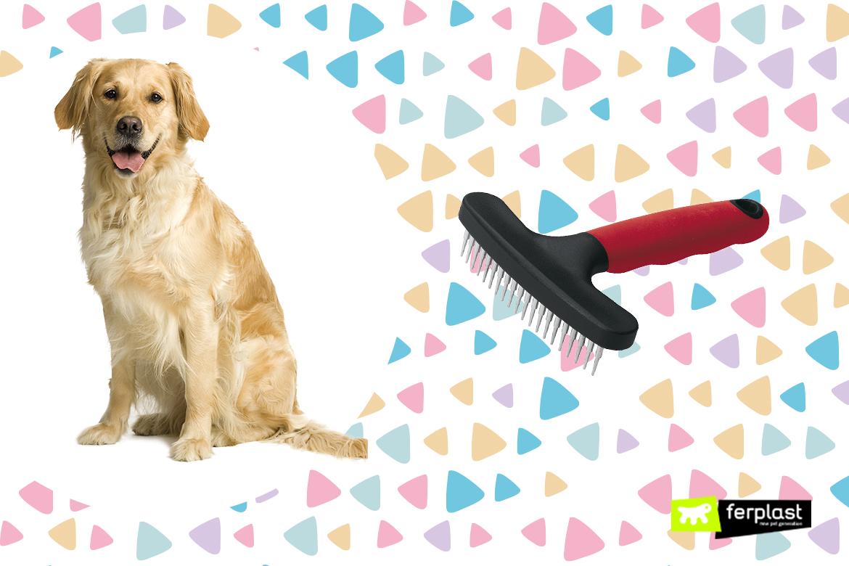 cepillo ferplast para perro pierde pelo