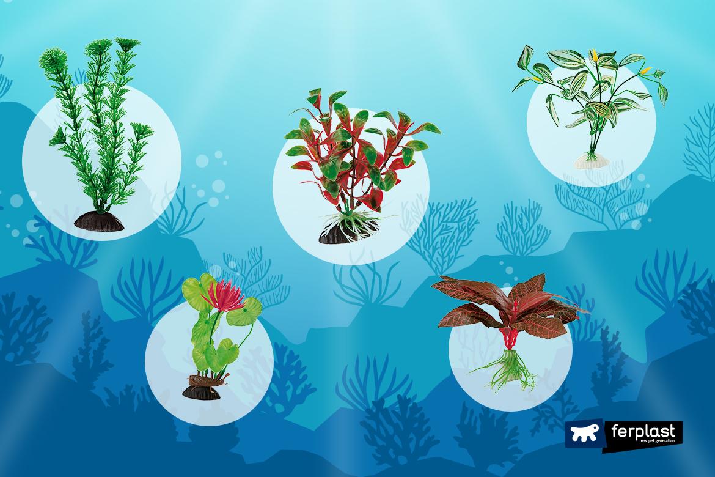 Plantas artificiais para aquàrio