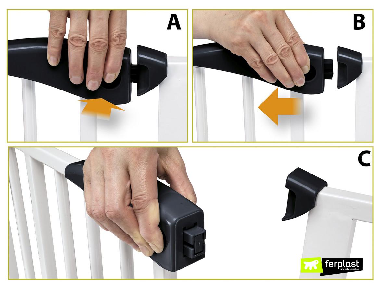 pet gate ferplast как это работает