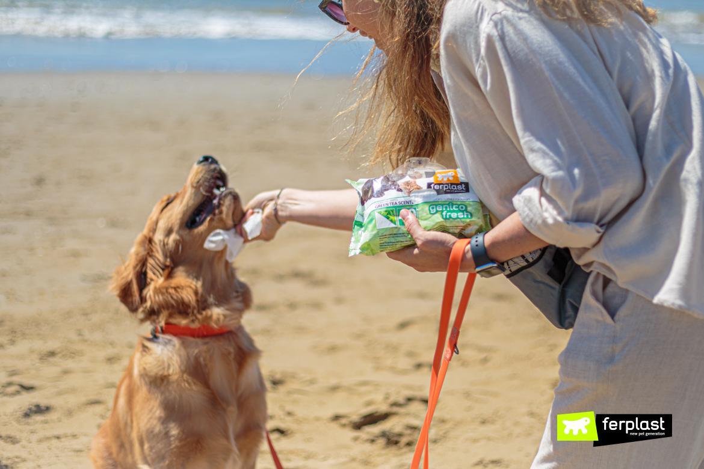 Genico Fresh di Ferplast per la pulizia del cane al mare