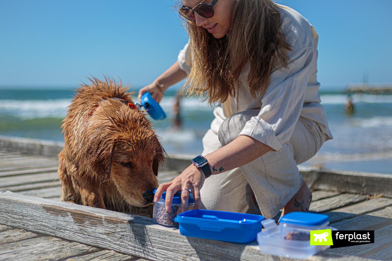 Pet Ristò di Ferplast da portare al mare con il cane