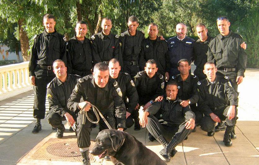 brigata canina tunisina scesa in campo in occasione dell'attentato al museo del Bardo