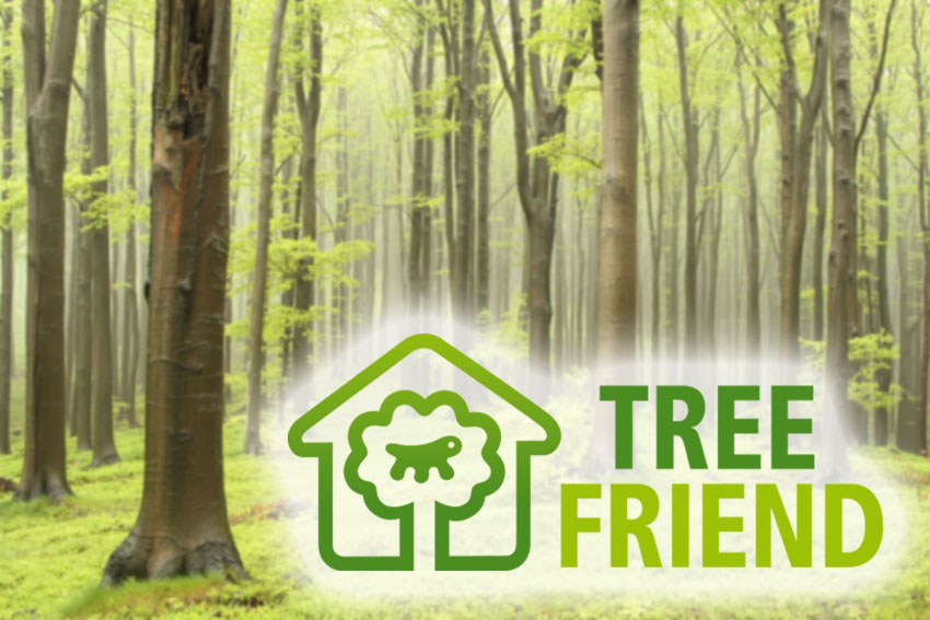marchio tree friend di Ferplast per la sostenibilità ambientale
