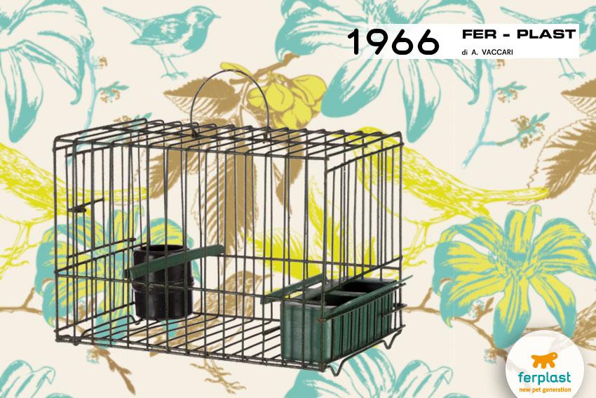 prima gabbietta per uccelli ferplast in ferro plastificato