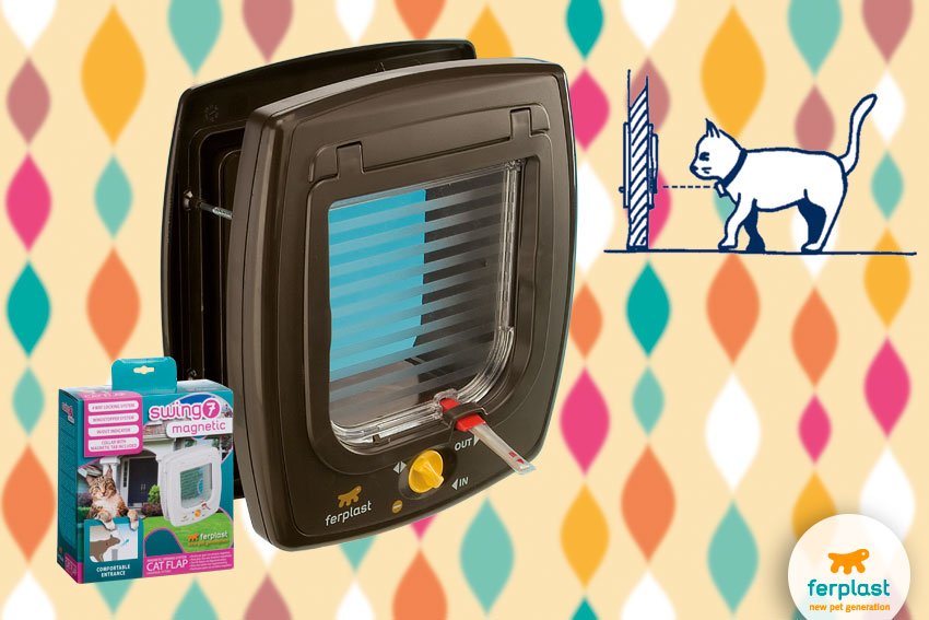 portina per gatti gattaiola magnetica swing 7 di ferplast