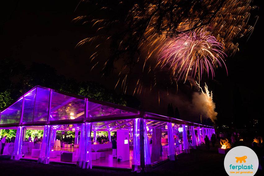 fuochi d'artificio alla festa per i 50 anni di ferplast