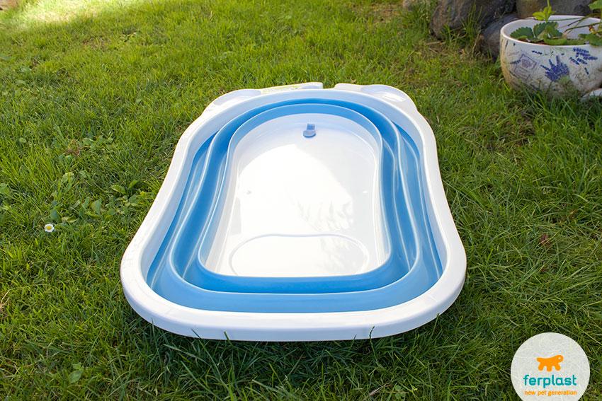 vasca da bagno per cani ripiegabile dog splash