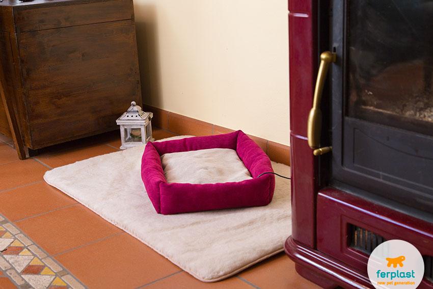 cuscino riscaldante per cani