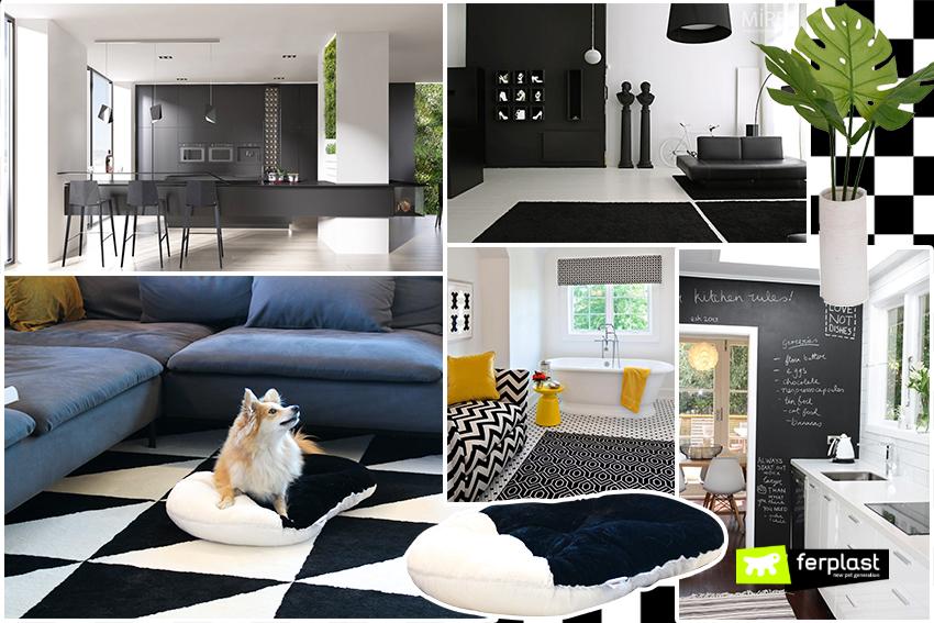 Arredamento bianco e nero per la casa love ferplast for Arredamento casa bianco